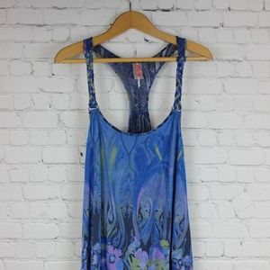ANTHROPOLOGIE Free People floral tank L